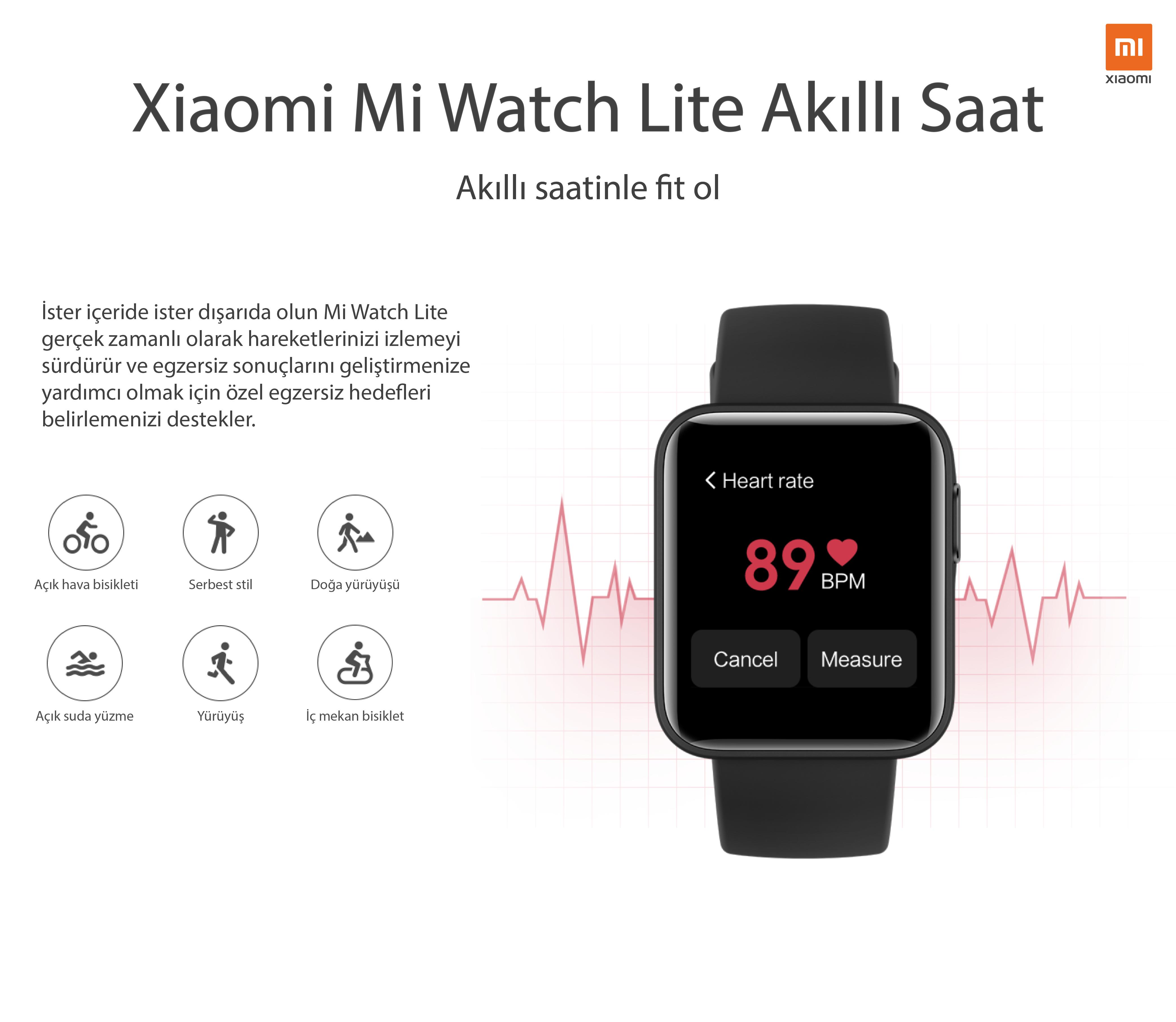 Xiaomi Mi Watch Lite Siyah Akıllı Saat
